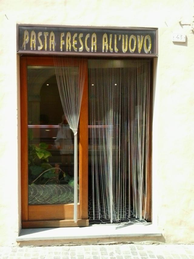 Fresh pasta shop exterior
